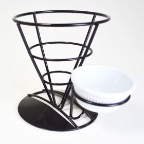 Black Display Cone And Ramekin Holder YZ1052