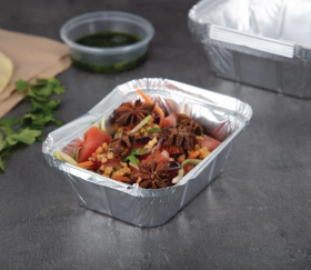 Foil Takeaway Food Containers Small 260ml / 9oz (Pack of 1000)
