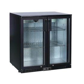 Koldbox KBC2 Double Hinged Door Bar Bottle Cooler 208L - Black
