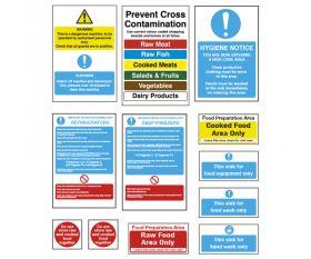 Commercial Kitchen Sign Essentials Starter Sign Pack - KSEPK