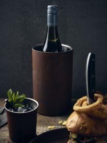 Rust Effect Wine Cooler 12cm Dia x 20cm High - Genware 003RT