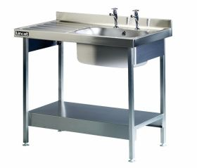 Lincat L881LH Single Sink Left Hand Drainer H900 x W1000 x D600