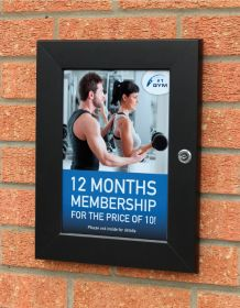 "30""x40"" (762x1016mm) Black Lockable poster frame."