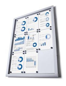 4 x A4 Economy Wall Mounted Lockable Dry Wipe Notice Board.