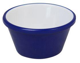 Melamine Ramekin Navy Blue & White Plain 2oz/59ml - pk 12
