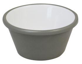 Melamine Ramekin Grey & White Plain 2oz/59ml - pk 12
