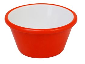 Melamine Ramekin Red & White Plain 2oz/59ml - pk 12