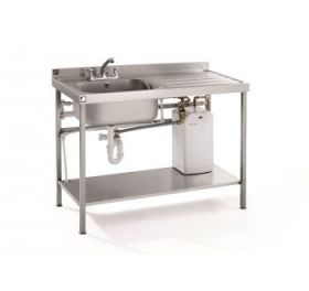 Parry - QFSINK1200  Stainless Steel Quick Fit Heated Sink