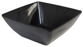 Melamine Square Bowl Black 26cm MB26B