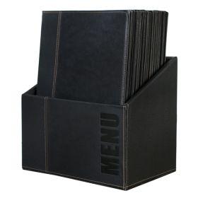 Contemporary Menu Box + 20 A4 Black Menus - Genware