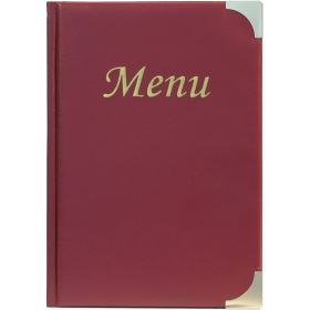 A5 Menu Holder Wine Red 8 Pages - Genware