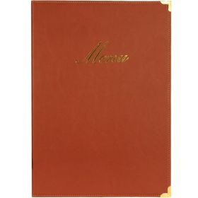 Classic A4 Menu Holder Wine Red 4 Pages - Genware