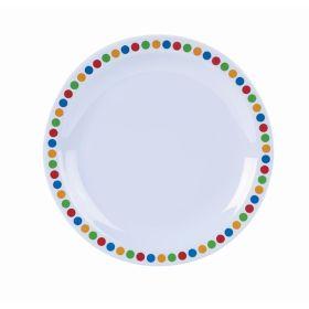 "Genware Melamine 6.25"" Plate- Coloured Circle"