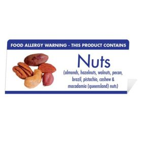 "Allergen Warning Buffet Tent Notice ""This Product Contains Nuts"" BT003"