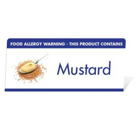 "Allergen Warning Buffet Tent Notice ""This Product Contains Mustard"" BT0013"
