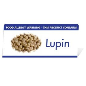 "Allergen Warning Buffet Tent Notice ""This Product Contains Lupin"" BT0015"