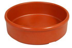 Melamine Tapas Dish 8cm Terracotta Orange MTAP-3T - Pack of 6