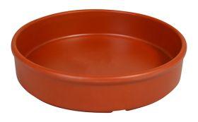 Melamine Tapas Dish 13.5cm Terracotta Orange MTAP-6T - Pack of 6