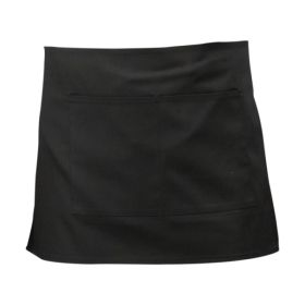 Black Short Apron 70cm x 37cm - Genware