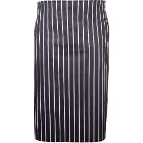 Navy Butchers Stripe Waist Apron 71cm X 76cm