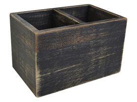 Black Washed Wooden Condiment Holder NAT-CBB