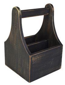 Black Wash Wooden Table Caddy NAT-CDB