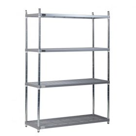 4 Tier Nylon Coated Quartermaster Shelving - 1700mm High, 600mm Deep & Different Widths Available