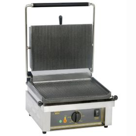 Roller Grill PANINI R Large Single - Ribbed Top & Base Plates Contact Grill