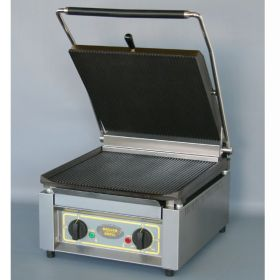 Roller Grill PANINI XLE R Extra Large Single - Ribbed Top & Base Plates Contact Grill