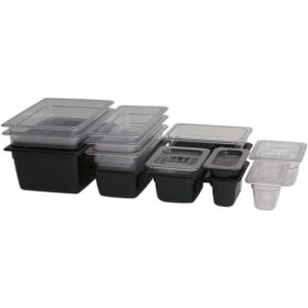 1/4 -Polycarbonate GN Pan 100mm Clear - Genware