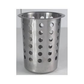 "Genware Stainless Steel  Perf. Cutlery Cylinder 4.1/2"""
