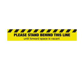 Please Stand Behind This Line - Floor Graphic Sticker - Coronavirus