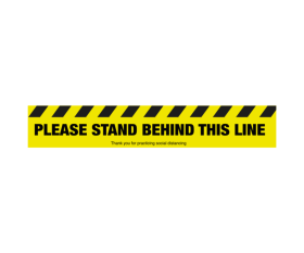 Please Stand Behind This Line - Floor Graphic Sticker - Coronavirus SD042