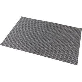 Placemat Silver 45 x 30cm PVC - Genware