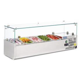 Polar G608 Refrigerated Counter Top Prep/Servery 5 x 1/4GN