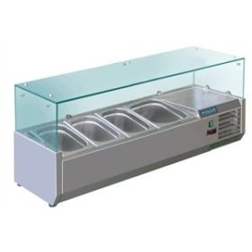 Polar GD875 Refrigerated Servery Topper 4 GN