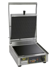 Roller Grill PREMIUM VC L - Ribbed Top and Flat Base Plate Contact Grill