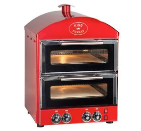 King Edward PK2 Pizza King - Double Deck Pizza Oven - Red