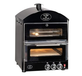 King Edward PK1W Pizza King Oven - Single Deck With Warmer - Black