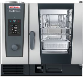 Rational iCombi Classic 6-1/1/G/N 6 Grid 1/1GN Natural Gas Combination Oven