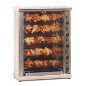 Roller Grill RBG200 Five Spit Large Gas Rotisserie