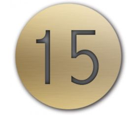 Table Number Discs Gold Engraved for Restaurant / Cafe / Pub - Pk 10