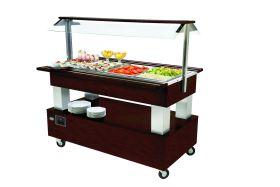 Roller Grill SB40C Heated Buffet Unit  -Dark Oak