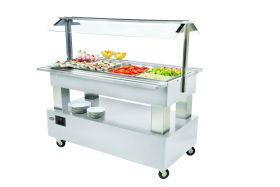 Roller Grill SB40C Heated Buffet Unit -Limed White