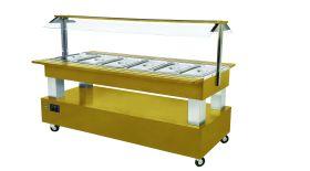 Roller Grill SB60F Refrigerated Buffet Display Unit - Light Oak