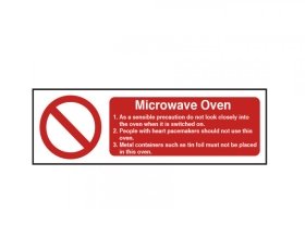 Microwave Oven Safety Sign - CE029