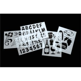 Set Of 6 Cafe Stencils - Genware