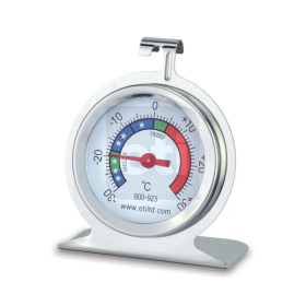 ETI Stainless Steel Fridge/Freezer Thermometer with Ø50 mm Dial