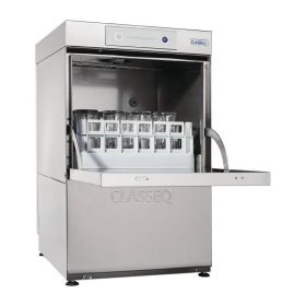 Classeq G400DUOWS 400mm 16 Pint Undercounter Glasswasher With Drain Pump & Water Softener