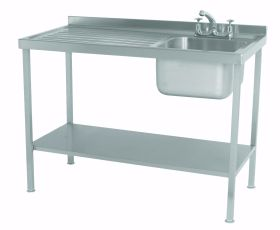 Parry Single Bowl Left Hand Drainer Sink - Stainless Steel L1000 x W600 x W900 - SINK1060L